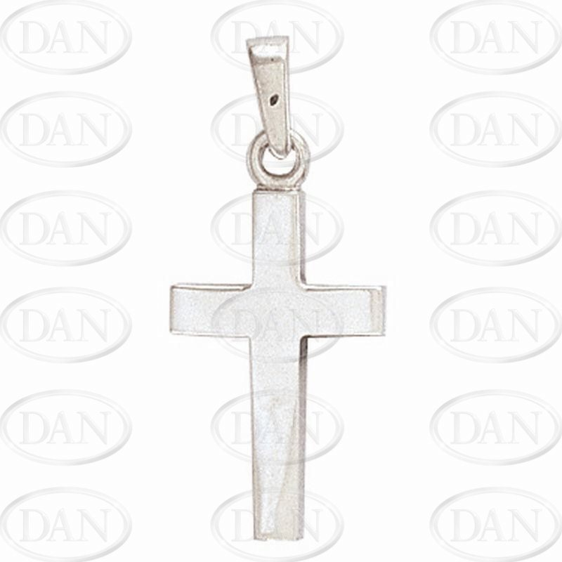 Plain White Gold Cross Pendant