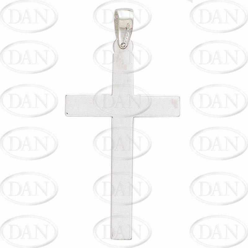 Plain White Gold Cross Pendant