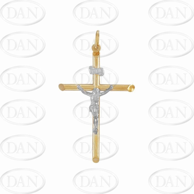 2 Colour Hollow Crucifix Cross