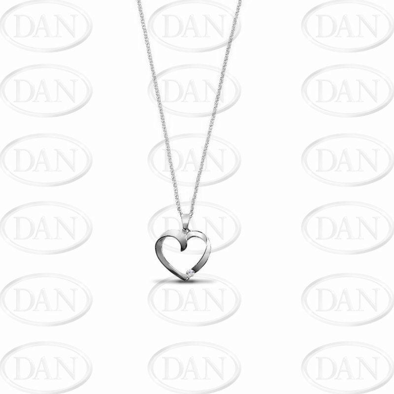 Diamond Heart Pendant 0.02ct Diamond