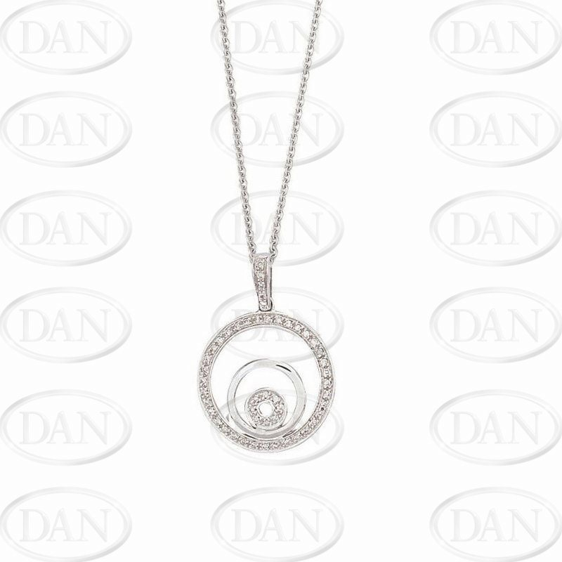 18ct Yellow Diamond Circles Pendant & Chain
