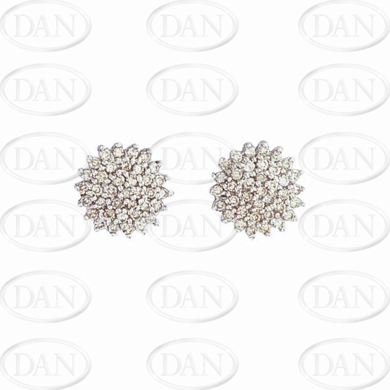 Diamond Cluster Studs Earrings