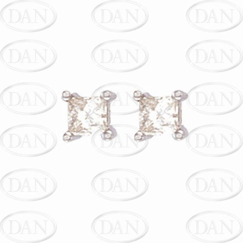 0.75Ct Princess Cut Diamond Studs