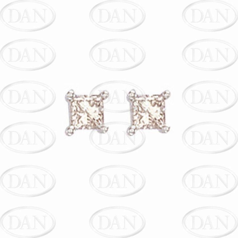 0.50Ct Princess Cut Diamond Studs