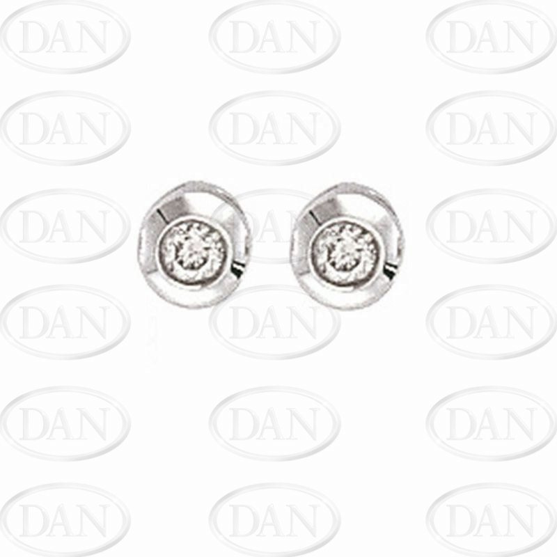 0.20Ct Diamond Rubover Studs With G