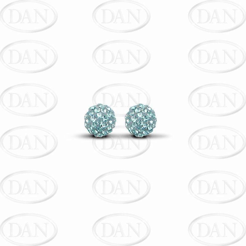 7.5mm Special Blue Earrings