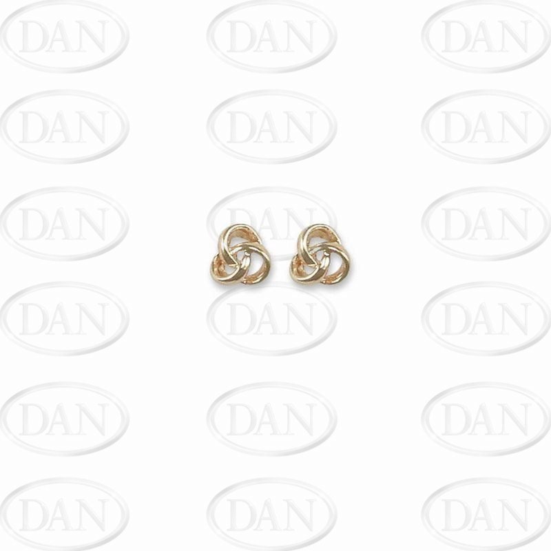 Knot Studs Earrings 9ct Yellow