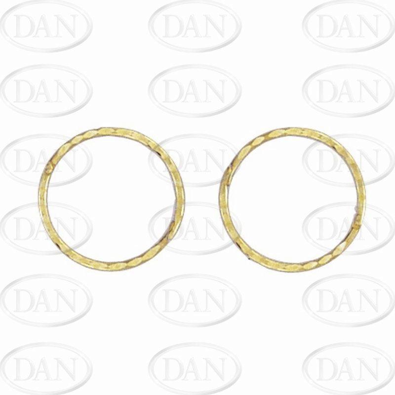 Sleepers 14mm Hinged D C Sleeper Earrings