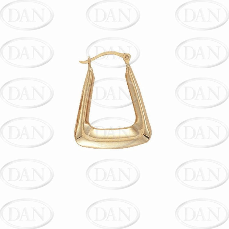9ct Yellow Gold Handbag Creole Earrings