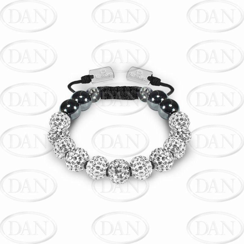 10mm Kamara White No Knots Bracelet