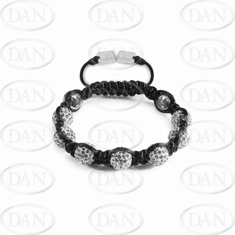 8mm Kids White Crystal Bracelet