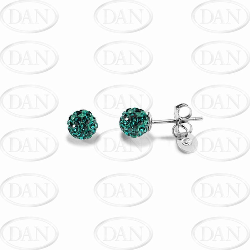 Kamara 6mm Dark Green Studs