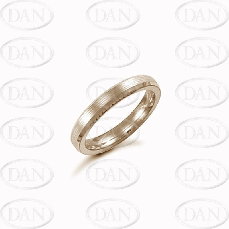 3mm Satin Bevel Wedding Ring 18ct Yellow