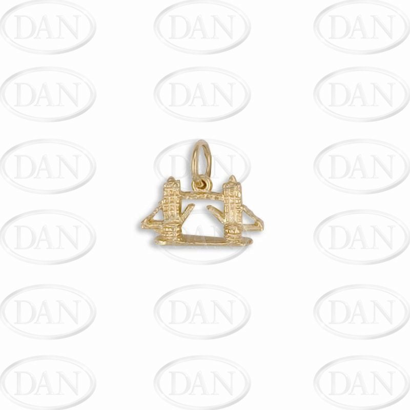 9ct Yellow Gold Tower Bridge Charm Pendant