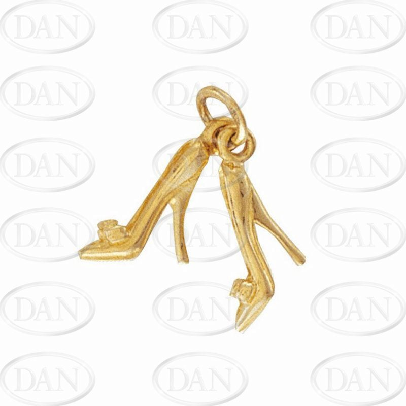 9ct Yellow Gold Pair of High Heels Charm Pendant