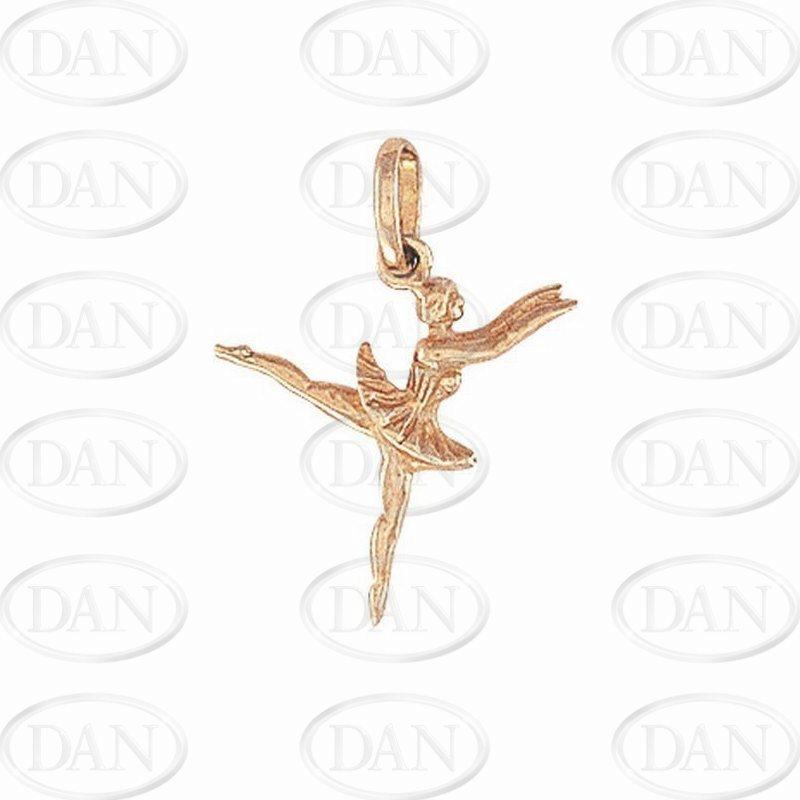 9ct Yellow Gold Ballerina Charm Pendant
