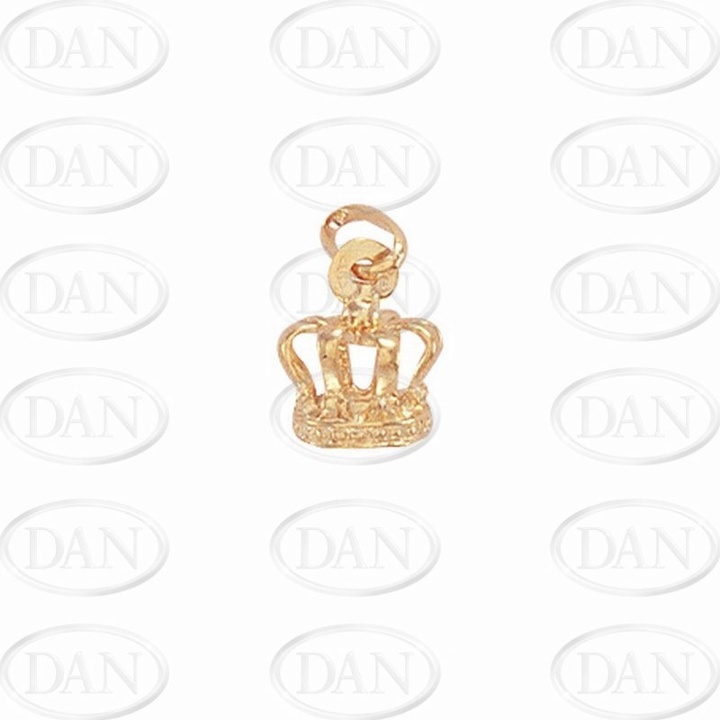 9ct Yellow Gold Crown Pendant