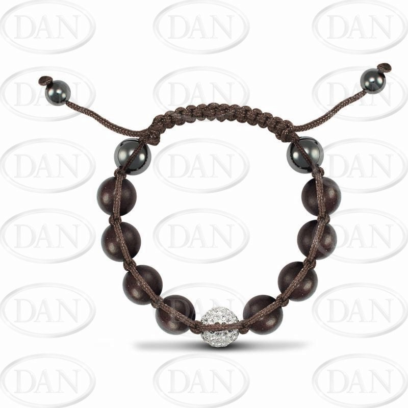 12mm 1Cz Brwn Wood & String Brac