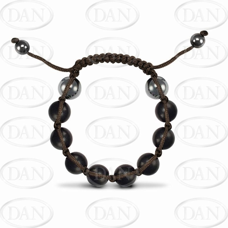 12mm Brown Wood Brown String Brac