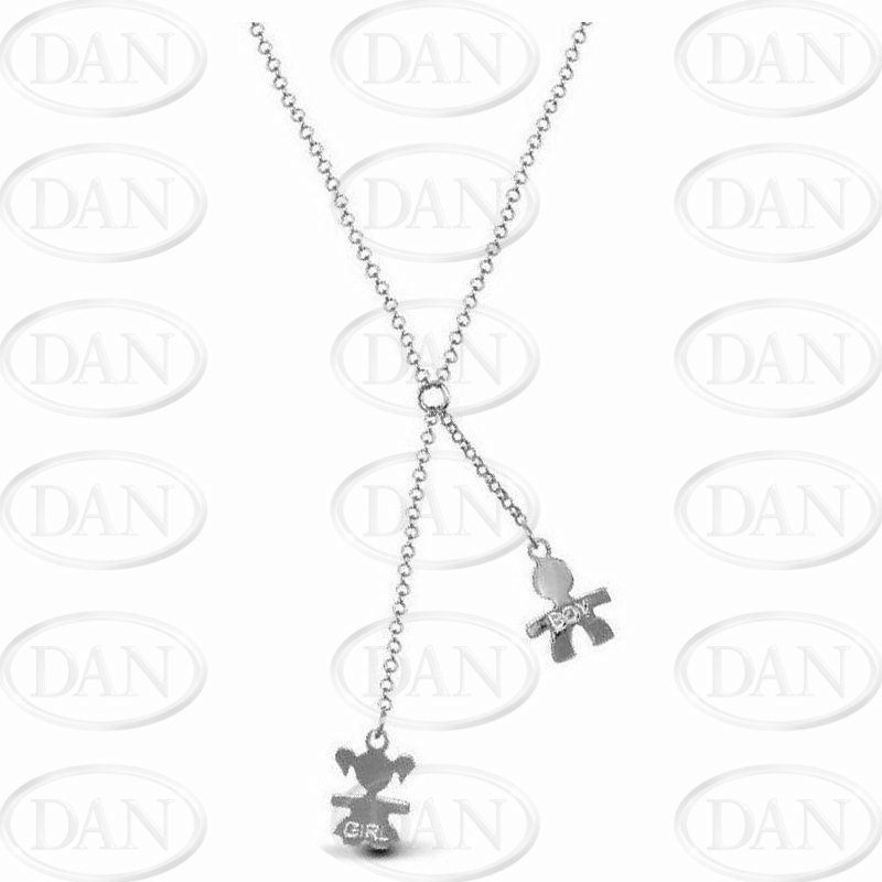 Boy & Girl Drop Chain Necklace