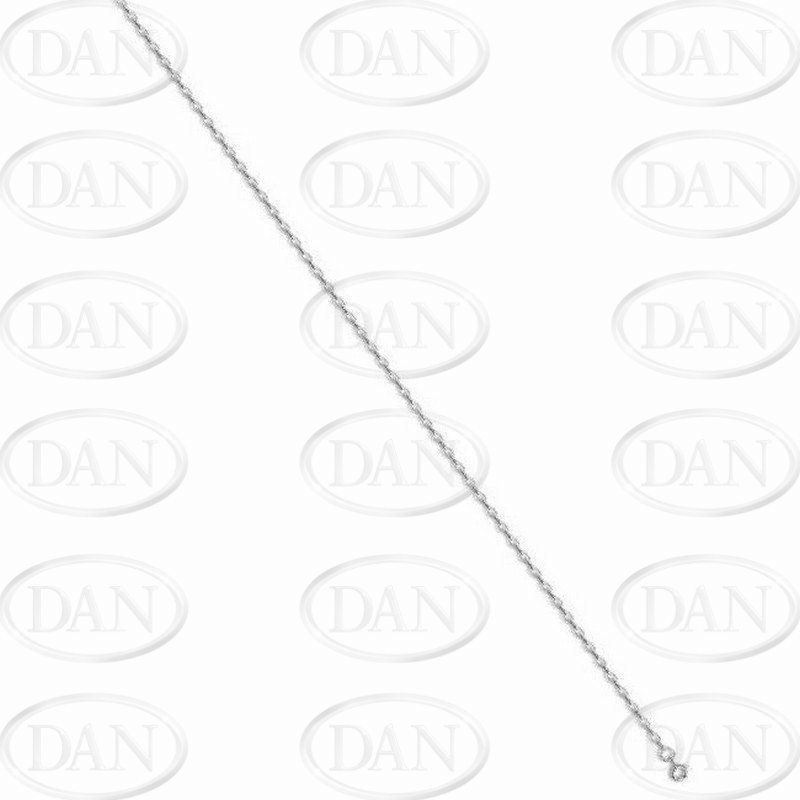 Silver Diamond Cut Oval Belcher Chain