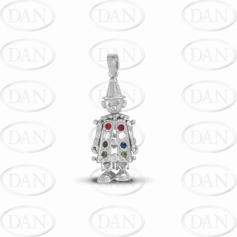 Silver clearance cz movable clown pendant silver cz movable clown pendant silver aloadofball Gallery