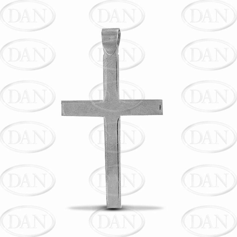 Plain Polished Cross Pendant 925