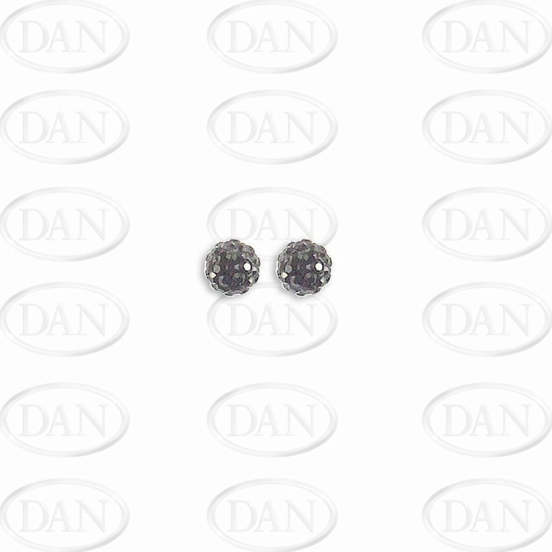 Black Crystal 6mm Ball Studs