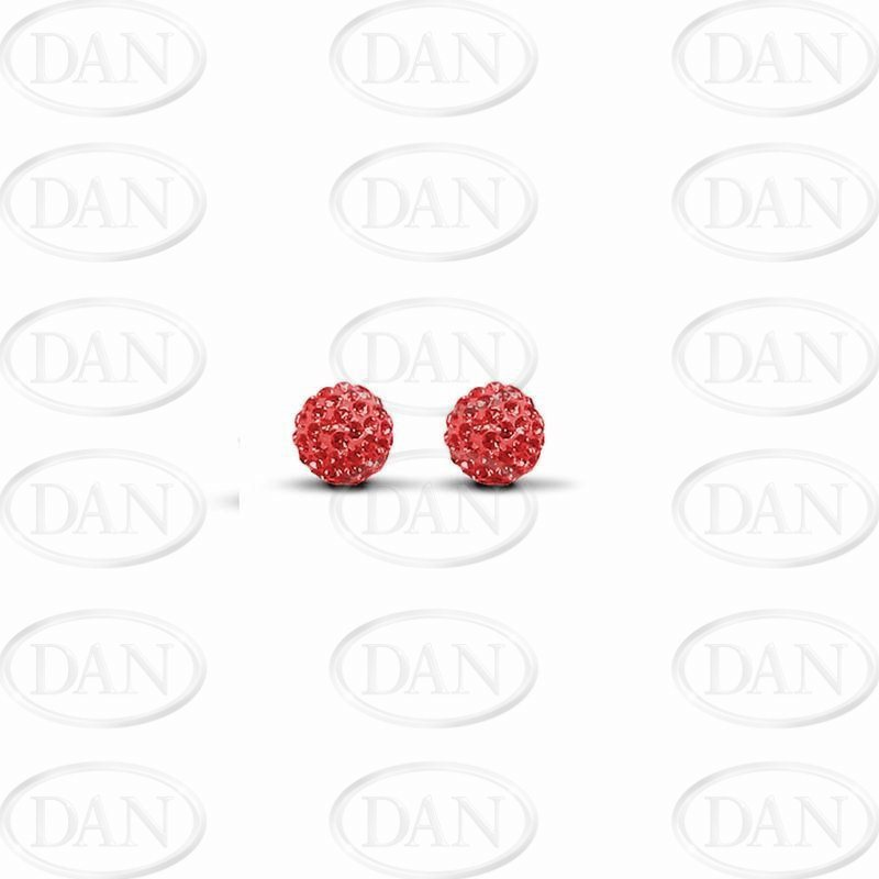 Red Crystal 6mm Ball Studs