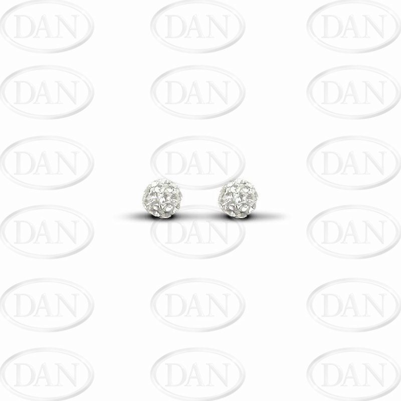White Crystal 6mm Ball Studs