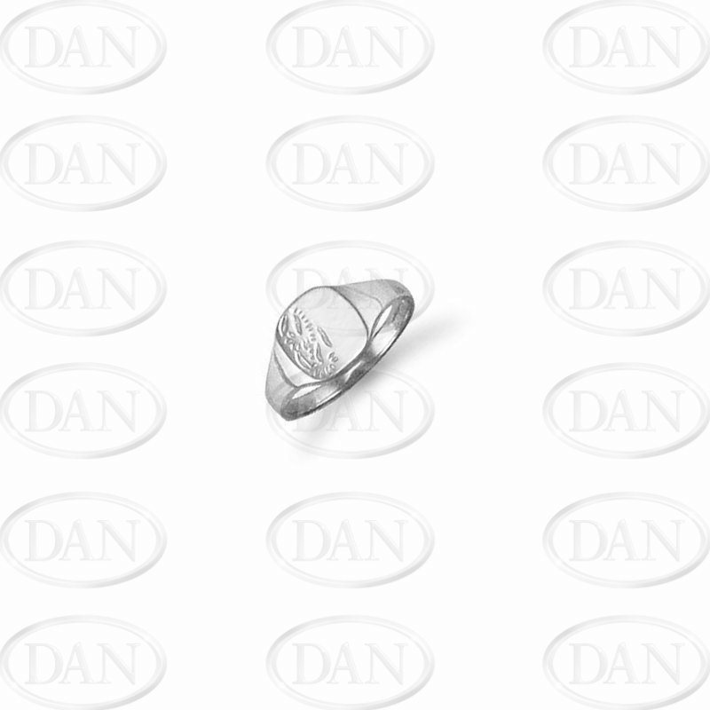 Sterling Silver Cushion Signet Kids Ring