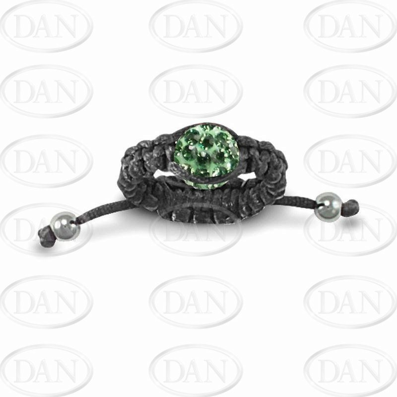 Dark Green Crystal Adjustable Ring