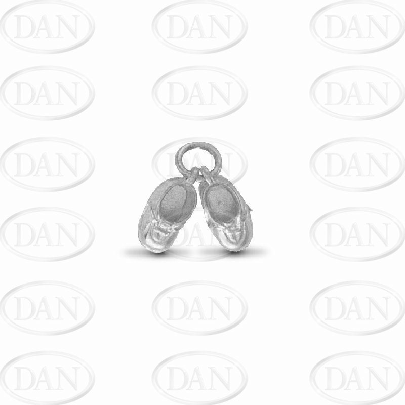 Silver Baby Boots Pendant
